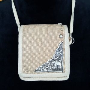 Adorable mini bag with etched elephant design